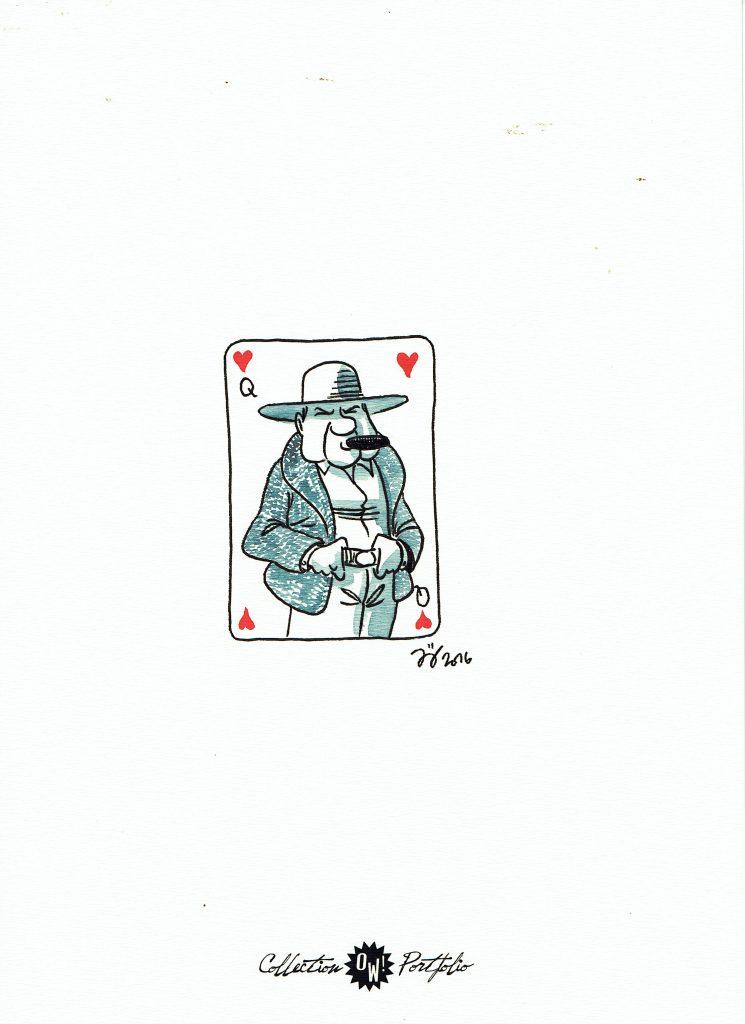 J. Jouvray, dédicace sur portfolio n°2 OW! - format 22x31cm.