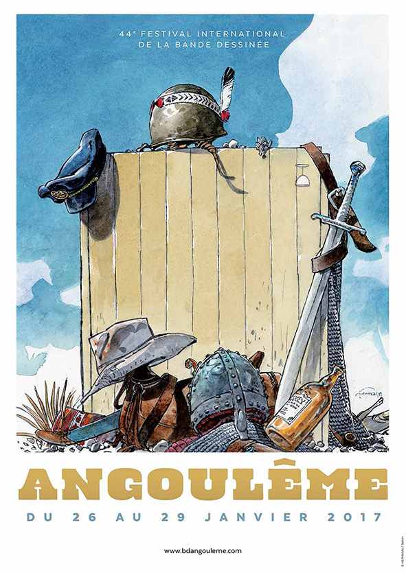 Hermann​ - Affiche de la 44ème édition du Festival International de la Bande Dessinée