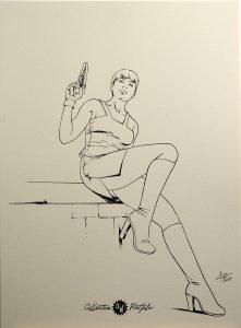 C. Ferri, dédicace sur portfolio n°4 OW! - format 22x31cm.