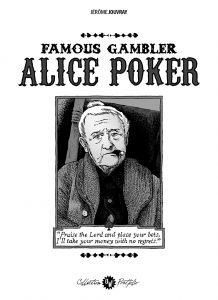 J. Jouvray, Alice Poker, couverture portfolio n°2 OW! - format 22x31cm.