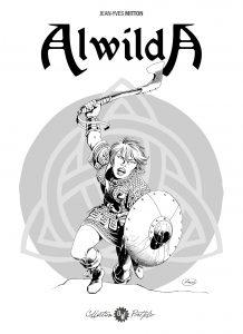 J.Y Mitton, Alwilda, couverture portfolio n°3 OW! - format 22x31cm.
