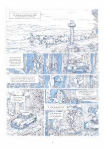 C. Alvès & F. Corteggiani, Le Principe d'Heisenberg, page intérieure / Tirage de Luxe OW! - Format 30 x 42 cm.
